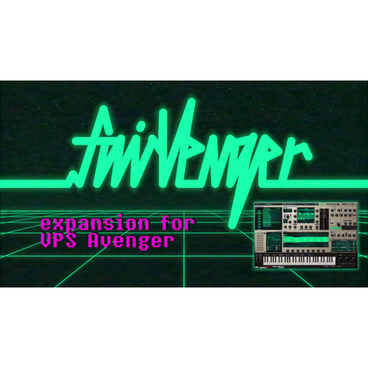 FairVenger 80's Synthwave inspired VPS Avenger Presets expansion with skin and add-ons